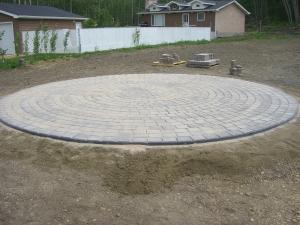 30 foot Circle in Cobblestone