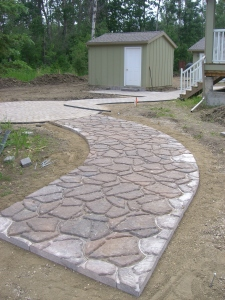 Walkway in Flagstone