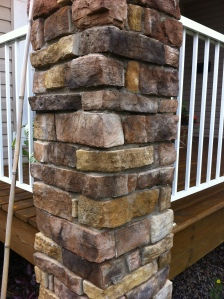 Post with cultured Stone